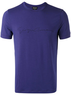 футболка с логотипом  Giorgio Armani
