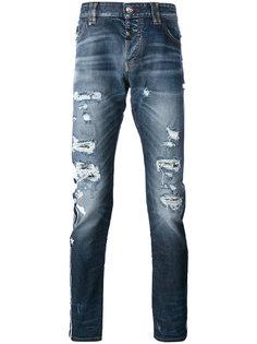 рваные узкие джинсы Philipp Plein