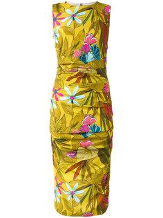 приталенное платье с цветочным узором Eggs