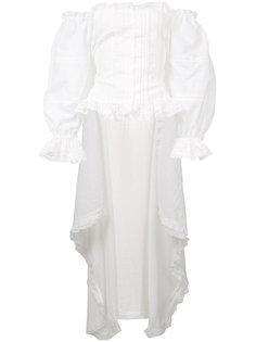 блуза с удлиненной спинкой с рюшами Faith Connexion