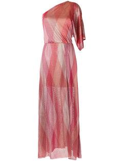 one shoulder knit dress Cecilia Prado