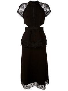 платье длины миди с вырезами Self-Portrait