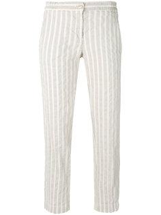 прямые полосатые брюки Massimo Alba