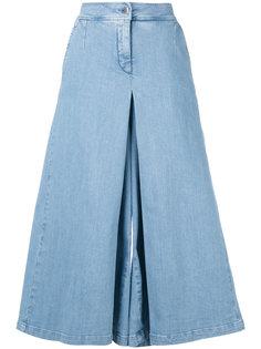 широкие укороченные джинсы Andrea Yaaqov