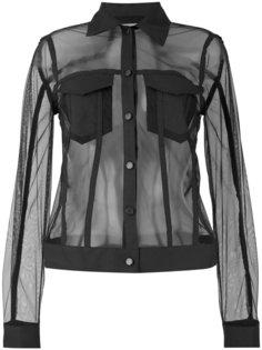 полупрозрачная сетчатая рубашка Andrea Yaaqov