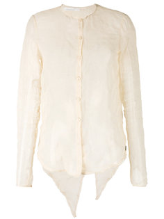 полупрозрачная блузка с разрезом сзади Nostra Santissima
