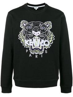 tiger embroidered sweatshirt Kenzo