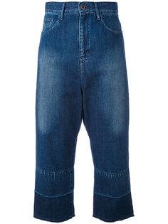 широкие укороченные джинсы Ys Y`s