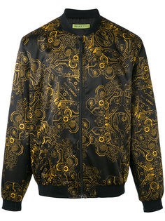 куртка-бомбер  с принтом Duchesse Techno Baroque Versace Jeans