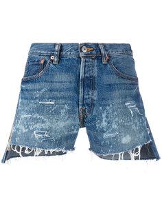 рваные джинсовые шорты Forte Couture