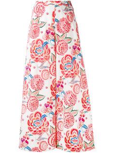 брюки-палаццо с цветочным узором Temperley London