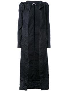 длинное пальто со вставками  Andrea Yaaqov