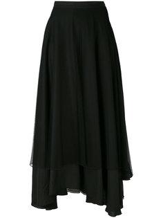 многослойная юбка длины миди Andrea Yaaqov