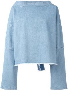 джинсовый топ с рукавами клеш  Andrea Yaaqov