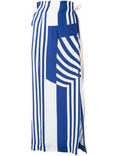 длинная полосатая юбка Erika Cavallini