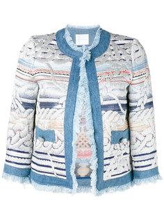 пиджак с вышивкой и бахромой Giada Benincasa