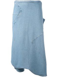 длинные джинсовые шорты-юбка Andrea Yaaqov