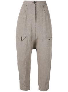 брюки с заниженным шаговым швом Rundholz