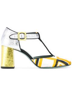 туфли с клетчатой отделкой Paola Darcano