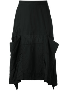 юбка с закругленным подолом и карманами Ys Y`s