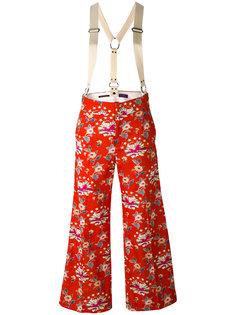 широкие брюки с цветочным узором Ys Y`s