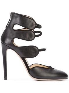 strappy stiletto pumps  Chloe Gosselin