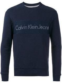crew neck logo sweatshirt Calvin Klein Jeans