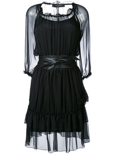 sheer belted dress Federica Tosi