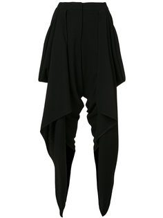 draped wrap cropped trousers Gareth Pugh