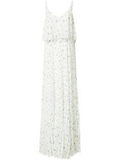 длинное платье с принтом птиц Grey Jason Wu