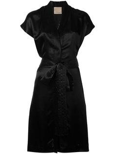 платье с запахом и вышитым орлом Laneus