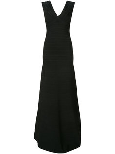 sequin shoulder black bandage dress Hervé Léger