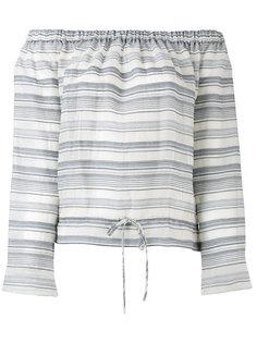 полосатая блузка с открытыми плечами Theory