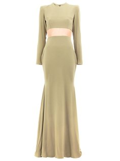cut-out dramatic train gown Alex Perry