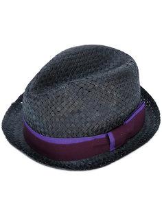 соломенная шляпа с контрастной лентой Paul Smith