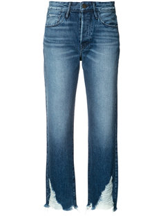 raw hem cropped jeans 3X1