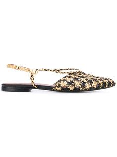 woven flat sandals Michel Vivien