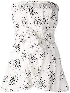 printed strapless playsuit C/Meo