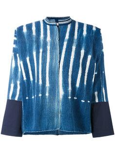 raw printed denim jacket Forte Forte