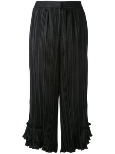pleated ruffle leg trousers LAutre Chose