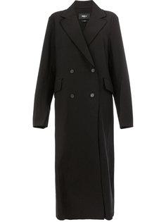 длинное двубортное пальто Yang Li