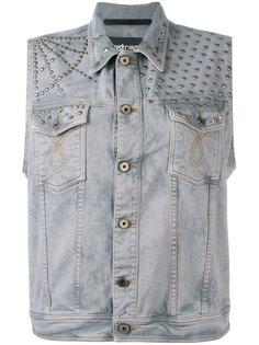 джинсовая куртка без рукавов  Just Cavalli
