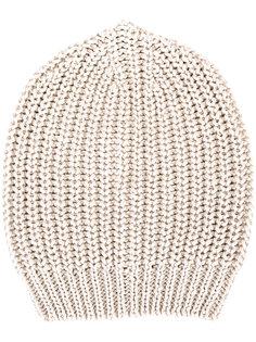 шапка-бини в рубчик Rick Owens