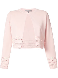 perforated one button cardigan Lela Rose