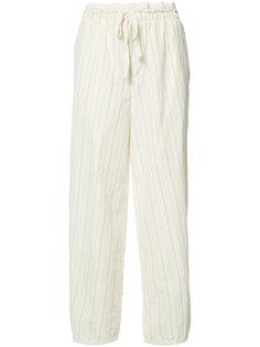 укороченные брюки в полоску Loewe