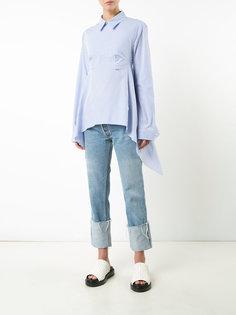 полосатая рубашка с открытой спиной Off-White