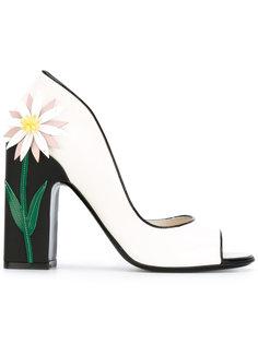 туфли-лодочки с цветком и открытыми носком  Fabrizio Viti