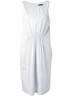 присборенное платье миди Fabiana Filippi