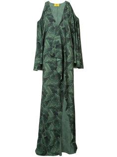 платье с растительным принтом Baja East