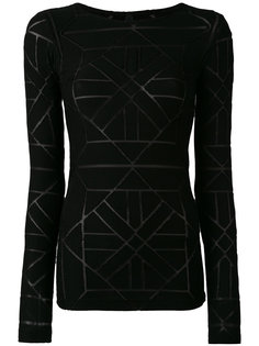 sheer panel detail sweater Gareth Pugh